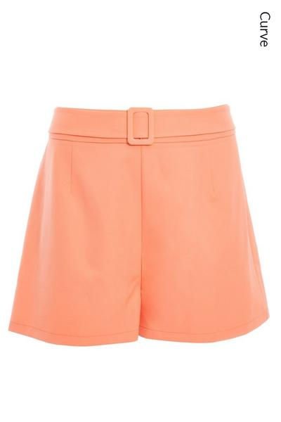 Curve Coral Belted Shorts